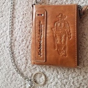 Other - Genuine leather wallet brown with coin pocket purs